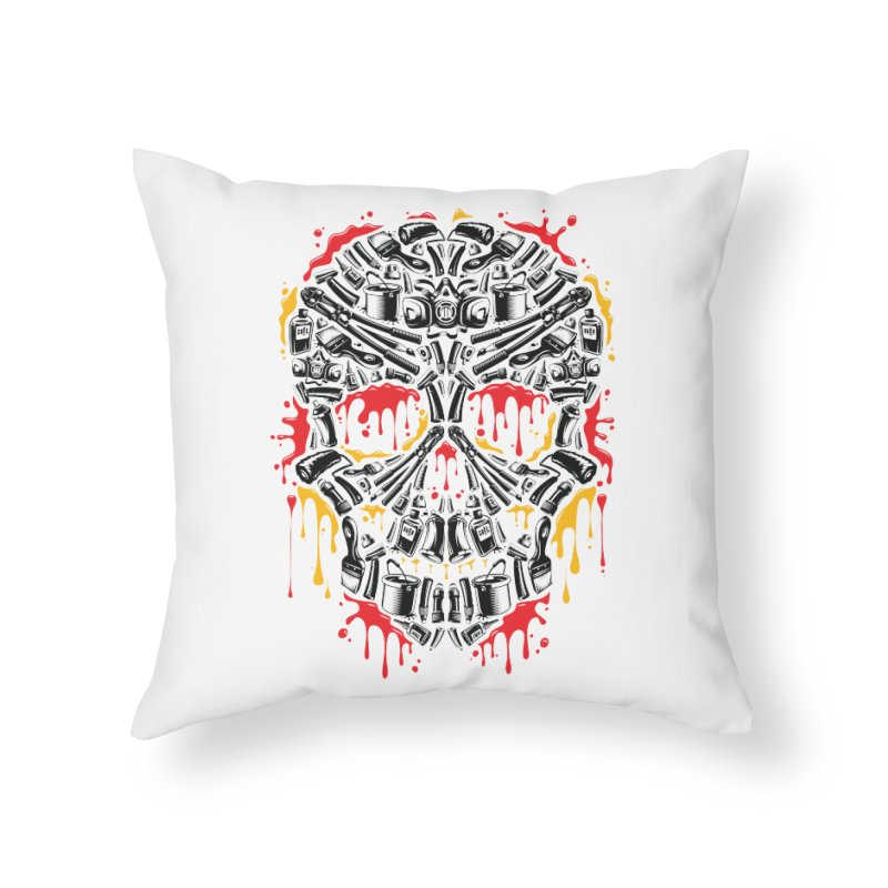 Sweet Streets Skull Home Throw Pillow by zoelone's Artist Shop