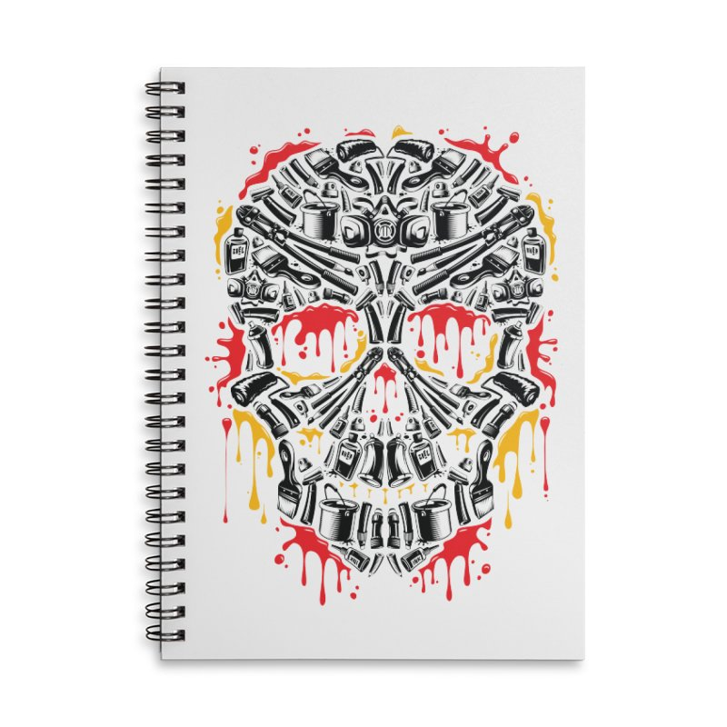 Sweet Streets Skull Accessories Lined Spiral Notebook by zoelone's Artist Shop