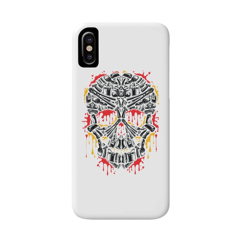 Sweet Streets Skull Accessories Phone Case by zoelone's Artist Shop
