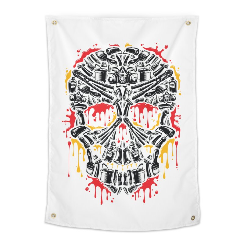 Sweet Streets Skull Home Tapestry by zoelone's Artist Shop