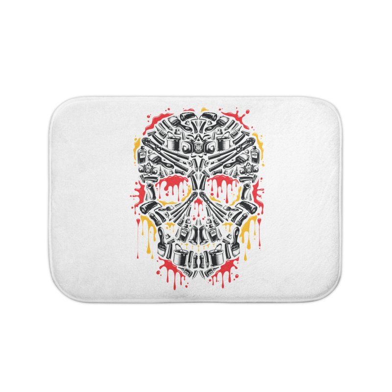 Sweet Streets Skull Home Bath Mat by zoelone's Artist Shop