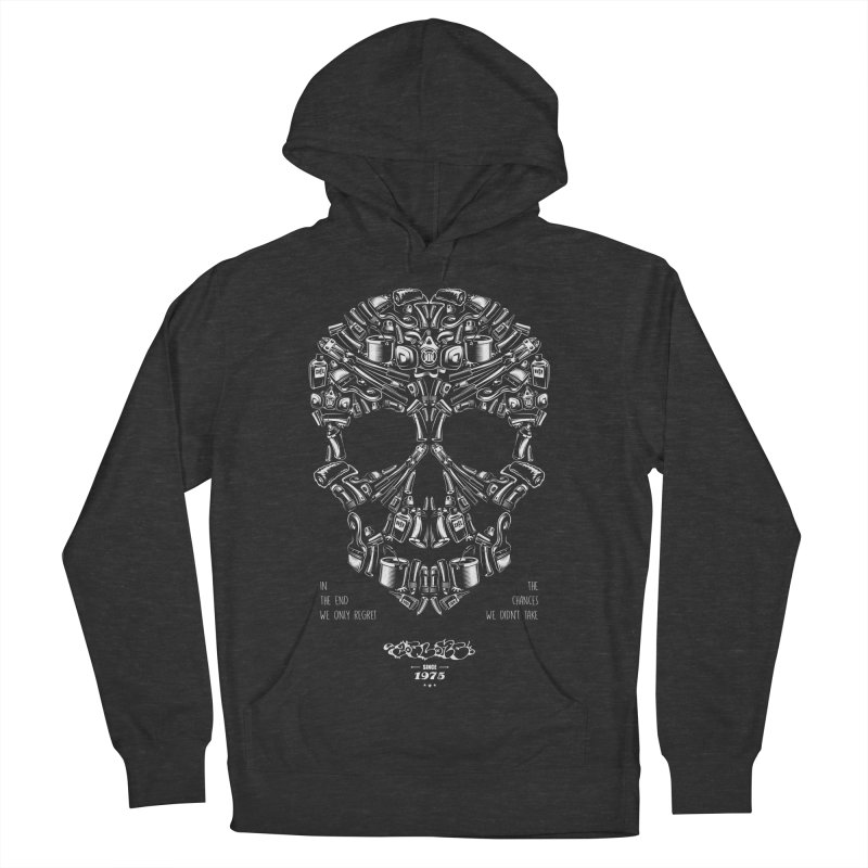 Sweet Street Skull Black Women's French Terry Pullover Hoody by zoelone's Artist Shop