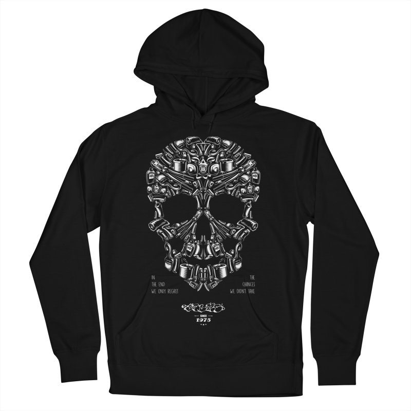 Sweet Street Skull Black Men's French Terry Pullover Hoody by zoelone's Artist Shop