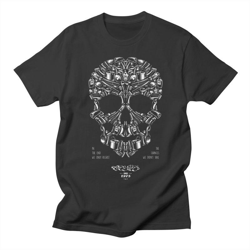 Sweet Street Skull Black Men's Regular T-Shirt by zoelone's Artist Shop
