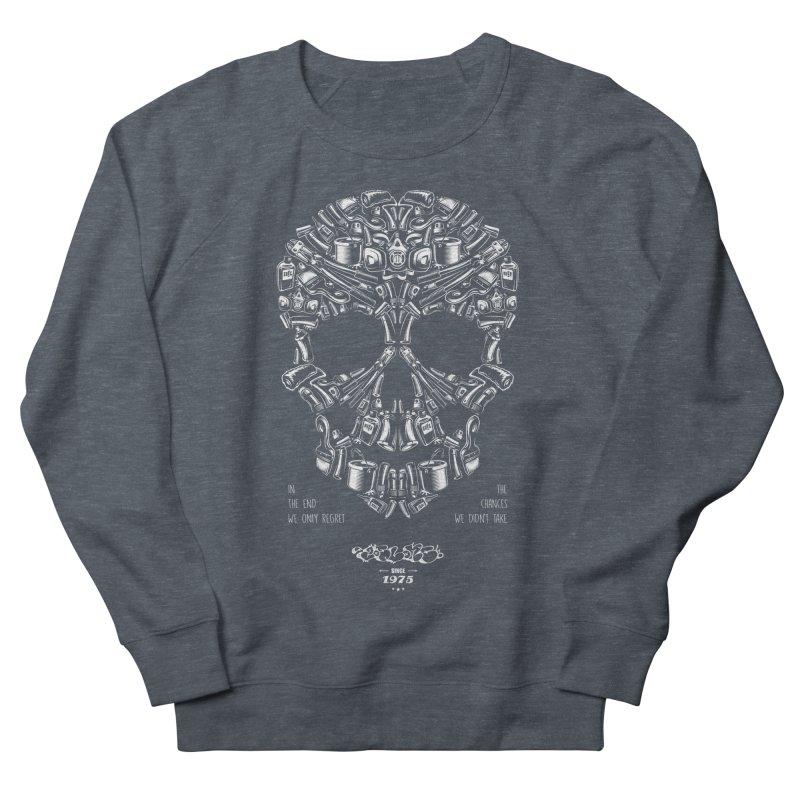 Sweet Street Skull Black Men's French Terry Sweatshirt by zoelone's Artist Shop