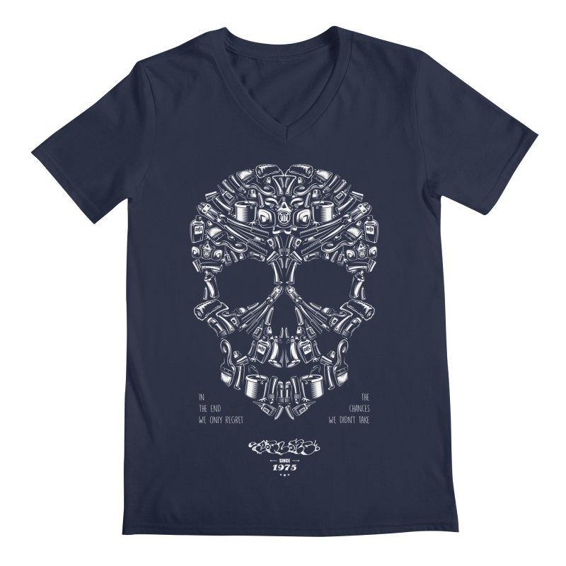 Sweet Street Skull Black Men's Regular V-Neck by zoelone's Artist Shop