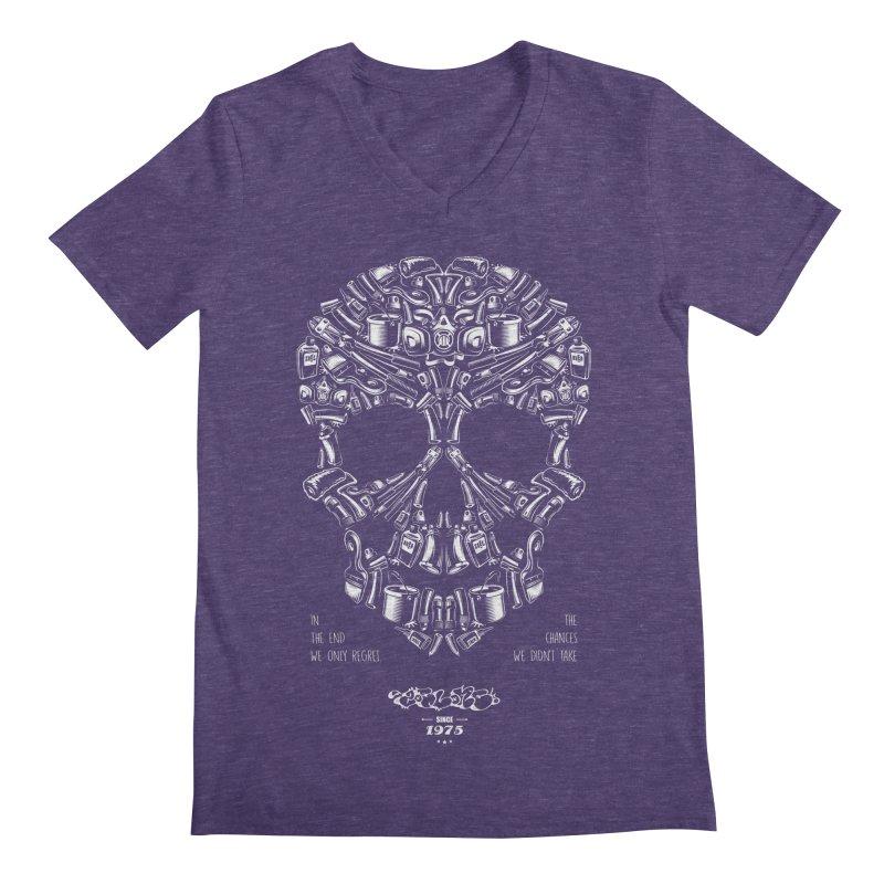 Sweet Street Skull Black Men's V-Neck by zoelone's Artist Shop