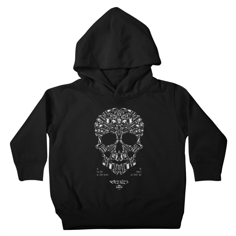 Sweet Street Skull Black Kids Toddler Pullover Hoody by zoelone's Artist Shop