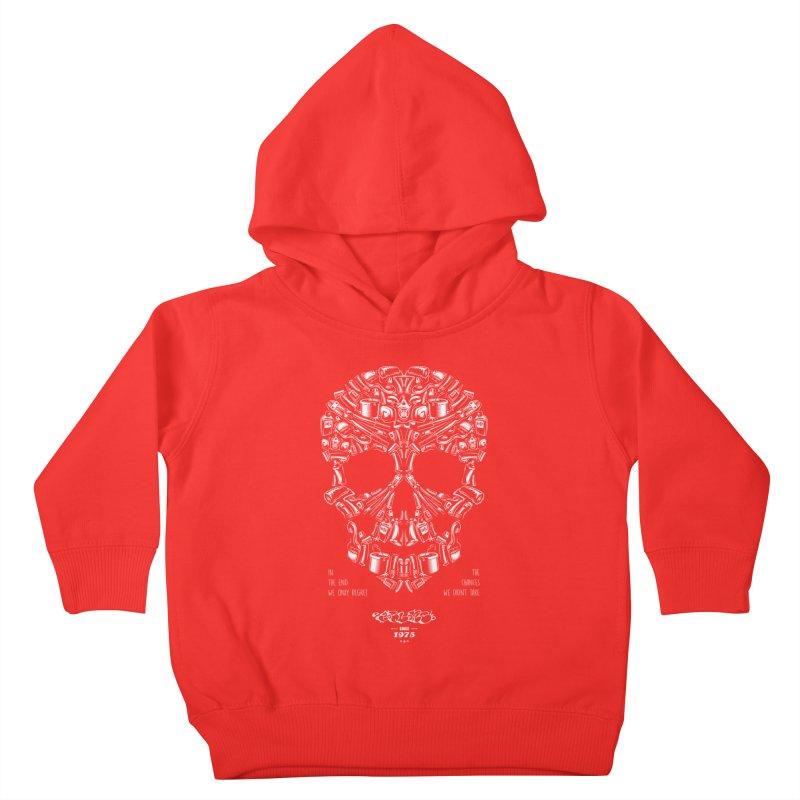 Sweet Street Skull Black Kids Toddler Pullover Hoody by zoelone's Artist Shop