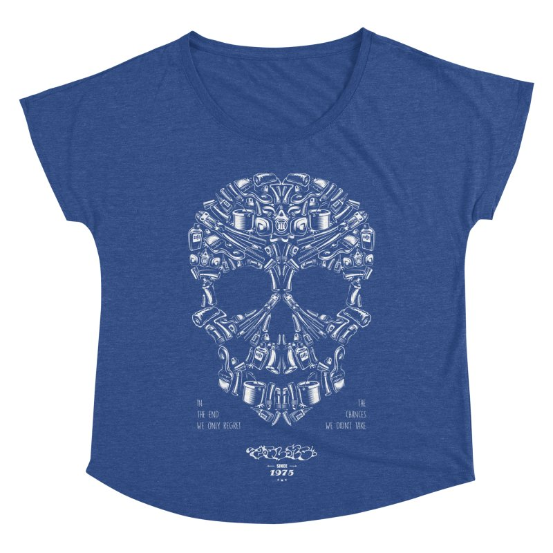 Sweet Street Skull Black Women's Dolman Scoop Neck by zoelone's Artist Shop