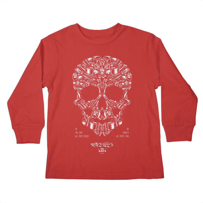 Sweet Street Skull Black Kids Longsleeve T-Shirt by zoelone's Artist Shop