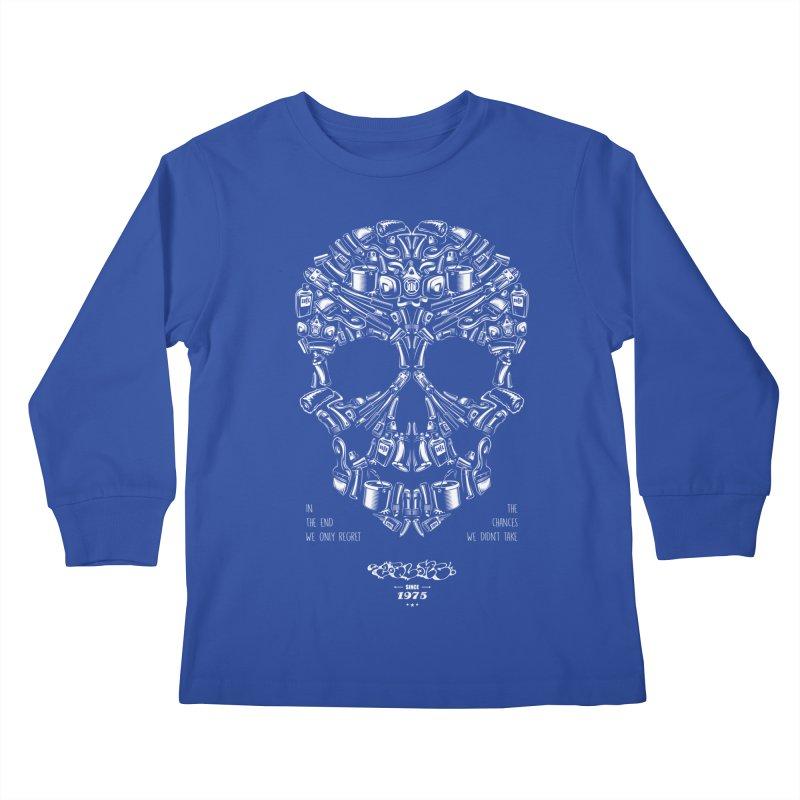 Sweet Street Skull Black Kids Longsleeve T-Shirt by zoelone's Artist Shop