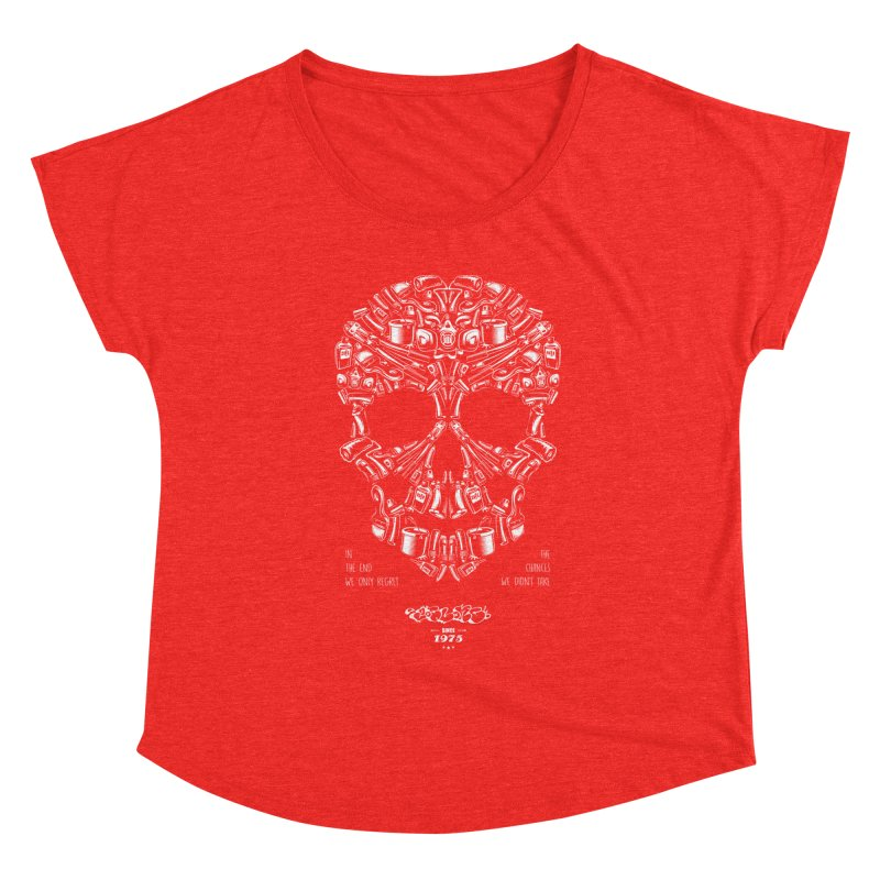 Sweet Street Skull Black Women's Scoop Neck by zoelone's Artist Shop