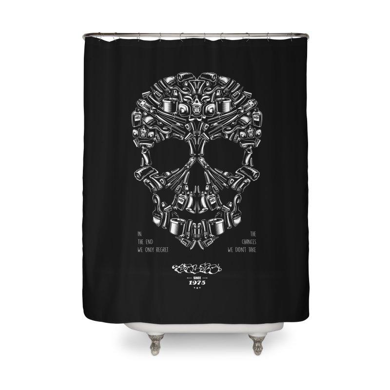 Sweet Street Skull Black Home Shower Curtain by zoelone's Artist Shop