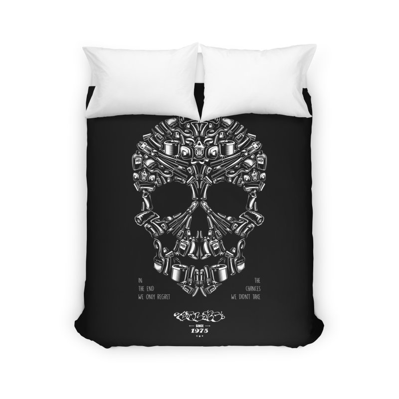 Sweet Street Skull Black Home Duvet by zoelone's Artist Shop
