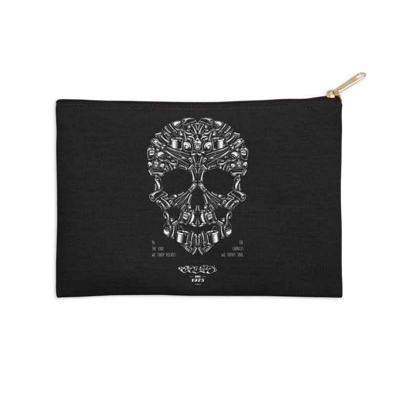Sweet Street Skull Black Accessories Zip Pouch by zoelone's Artist Shop