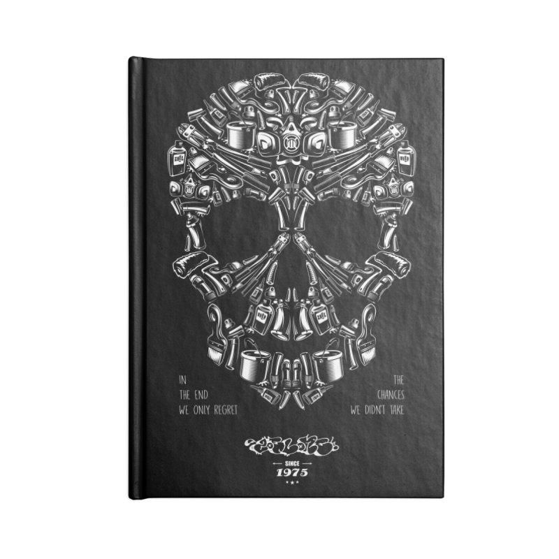 Sweet Street Skull Black Accessories Lined Journal Notebook by zoelone's Artist Shop