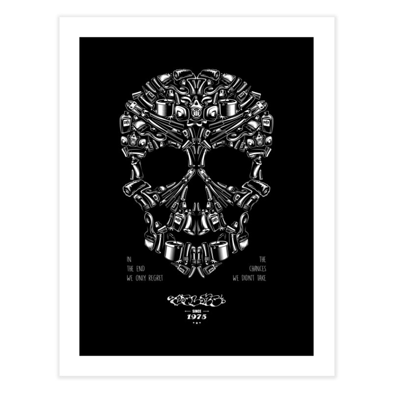 Sweet Street Skull Black Home Fine Art Print by zoelone's Artist Shop
