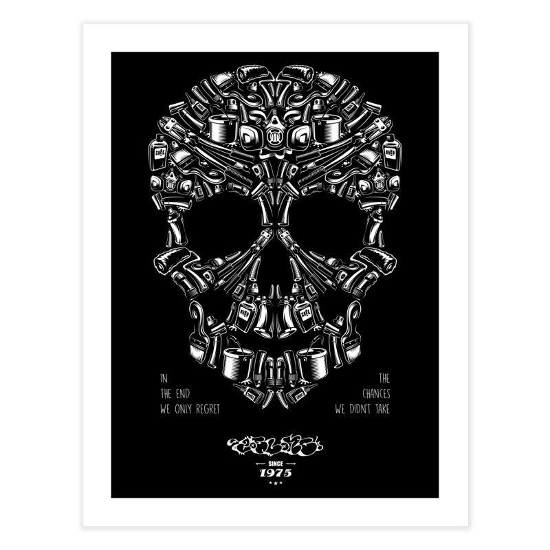 Sweet Street Skull Black Home Fine Art Print by zoelone's Artist Shop