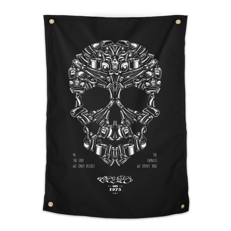 Sweet Street Skull Black Home Tapestry by zoelone's Artist Shop