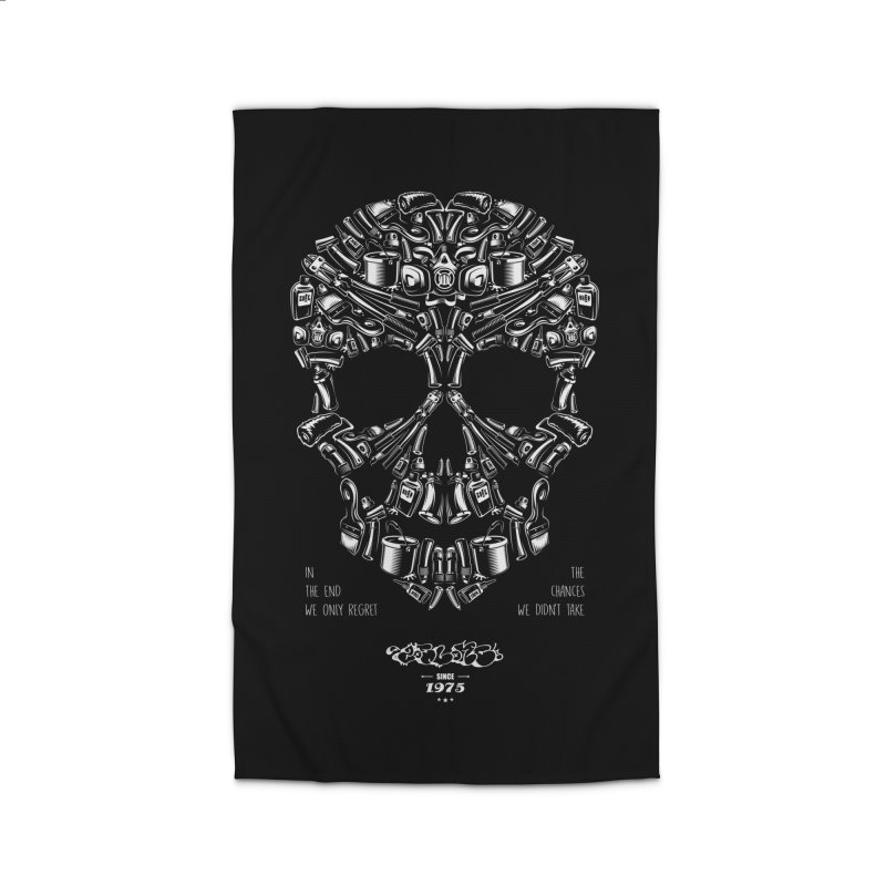 Sweet Street Skull Black Home Rug by zoelone's Artist Shop