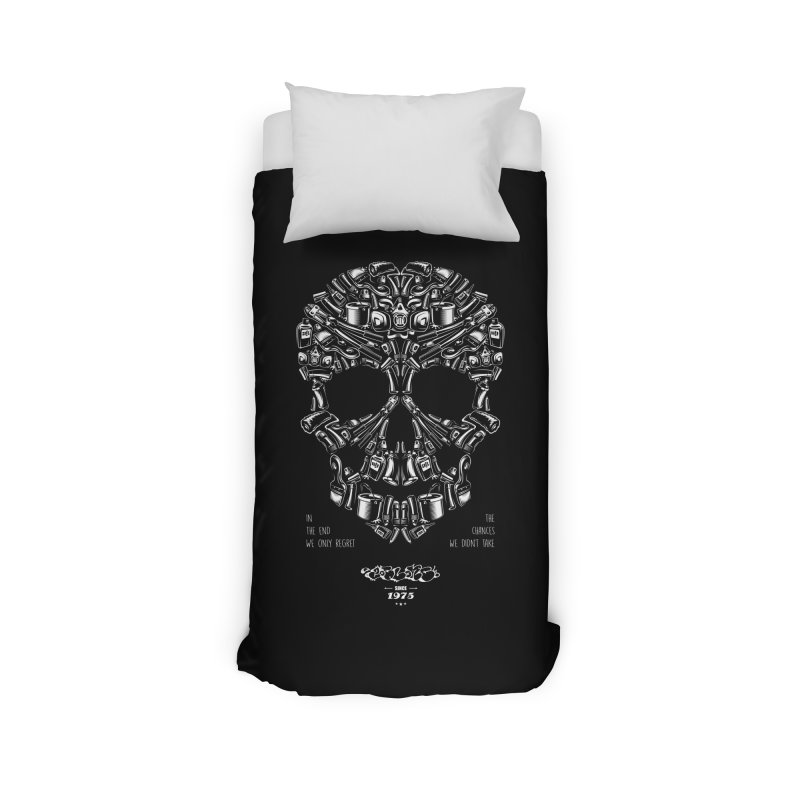 Sweet Street Skull Black Home Duvet by zoelone's Artist Shop