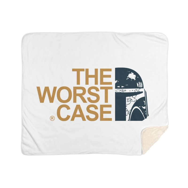 The Worst Case - Boba Fett Home Sherpa Blanket Blanket by zoelone's Artist Shop