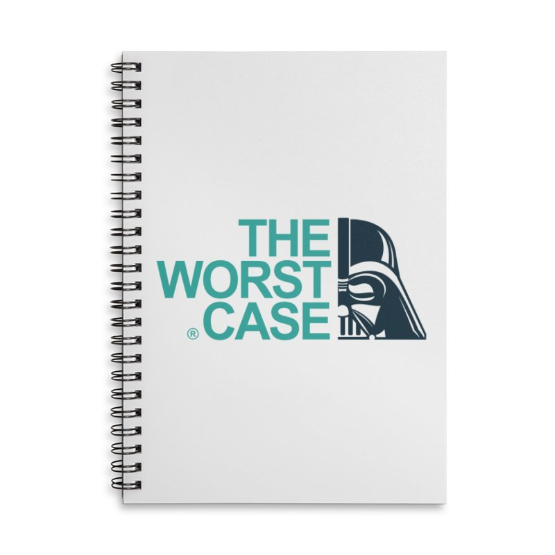 The Worst Case - Darth Vader Accessories Lined Spiral Notebook by zoelone's Artist Shop