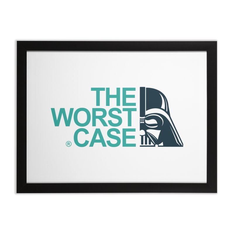 The Worst Case - Darth Vader Home Framed Fine Art Print by zoelone's Artist Shop