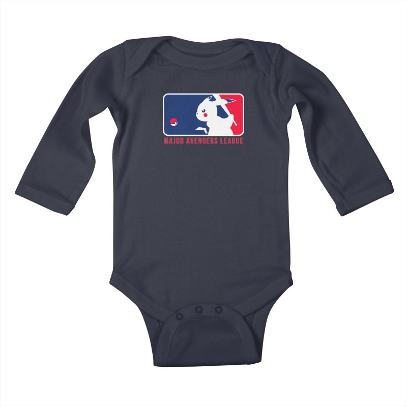 Major Avengers League Kids Baby Longsleeve Bodysuit by zoelone's Artist Shop