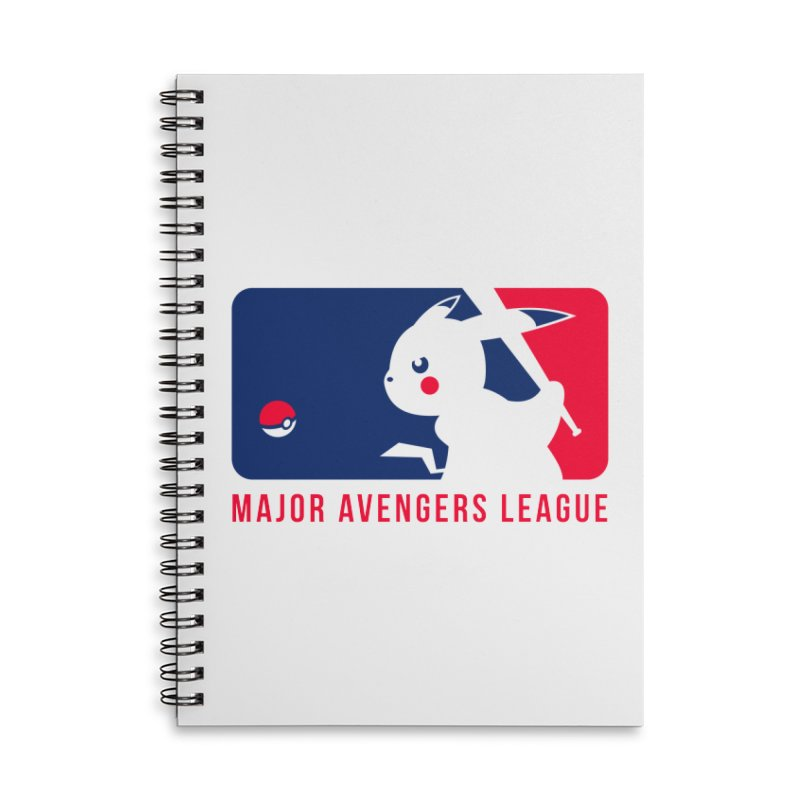 Major Avengers League Accessories Lined Spiral Notebook by zoelone's Artist Shop