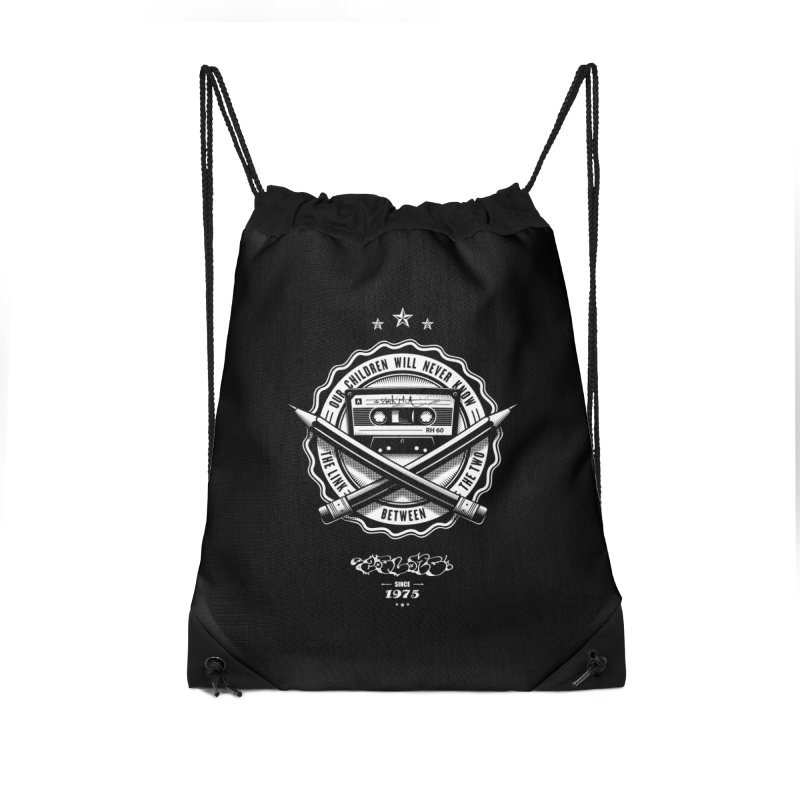 Our Children Will Never Know.. Black Accessories Bag by zoelone's Artist Shop