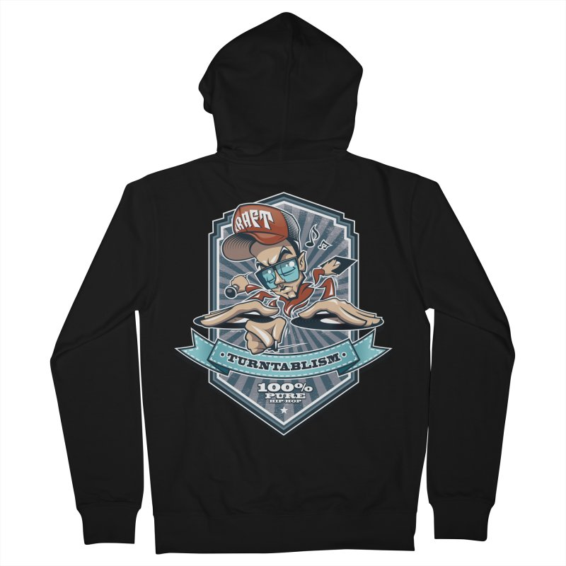 Turntablism Men's Zip-Up Hoody by zoelone's Artist Shop