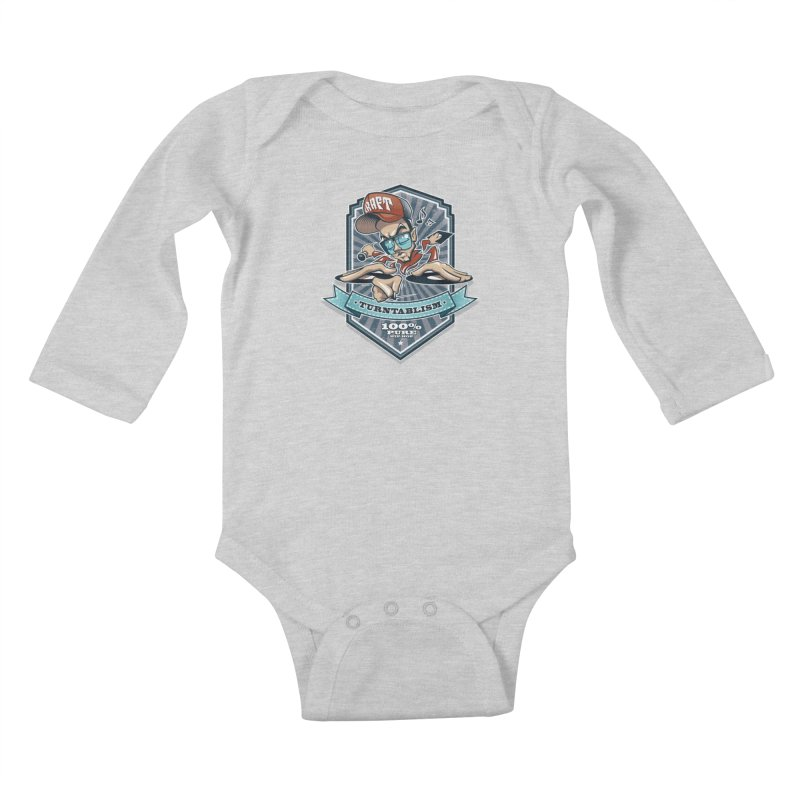 Turntablism Kids Baby Longsleeve Bodysuit by zoelone's Artist Shop
