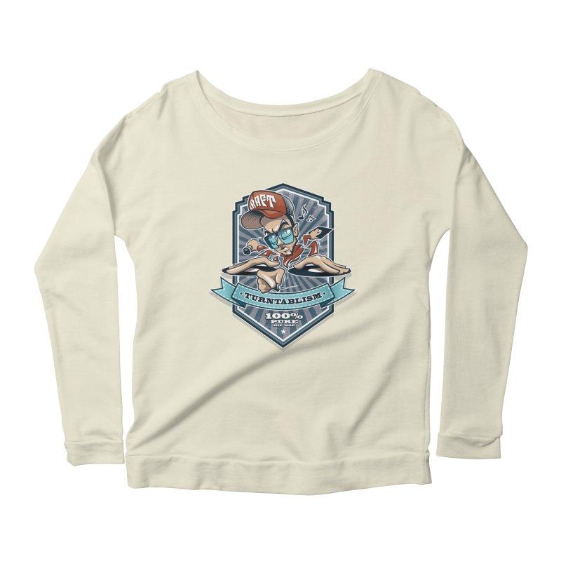 Turntablism Women's Scoop Neck Longsleeve T-Shirt by zoelone's Artist Shop
