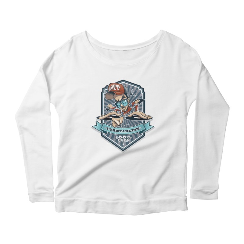 Turntablism Women's Longsleeve Scoopneck  by zoelone's Artist Shop