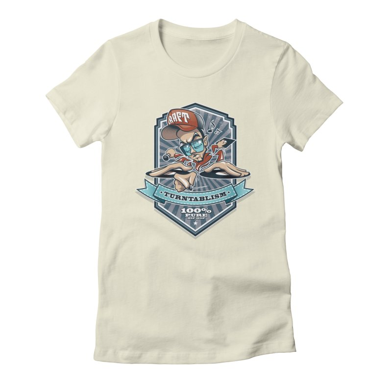 Turntablism Women's Fitted T-Shirt by zoelone's Artist Shop