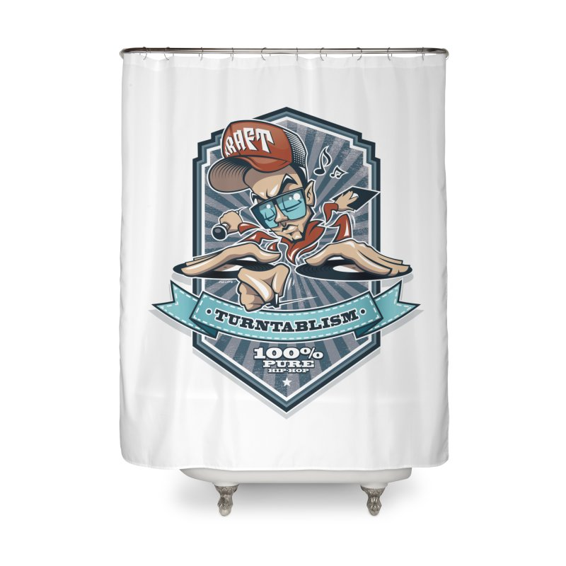 Turntablism Home Shower Curtain by zoelone's Artist Shop