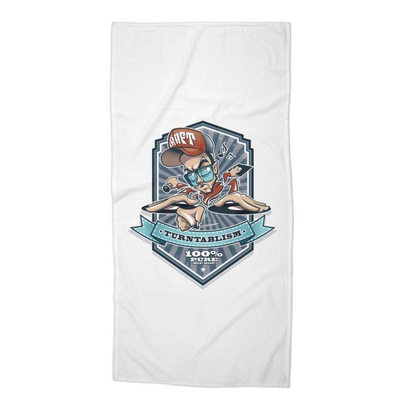 Turntablism Accessories Beach Towel by zoelone's Artist Shop
