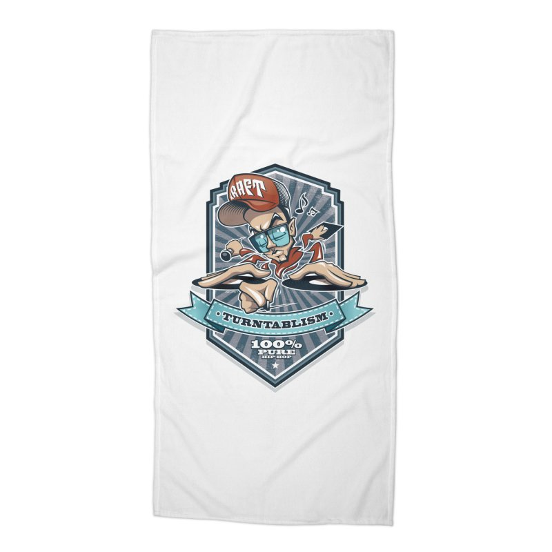 Turntablism Accessories Beach Towel by zoelone's Artist Shop