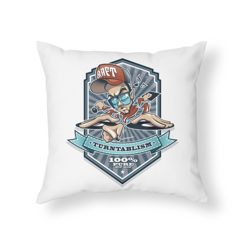 Turntablism Home Throw Pillow by zoelone's Artist Shop