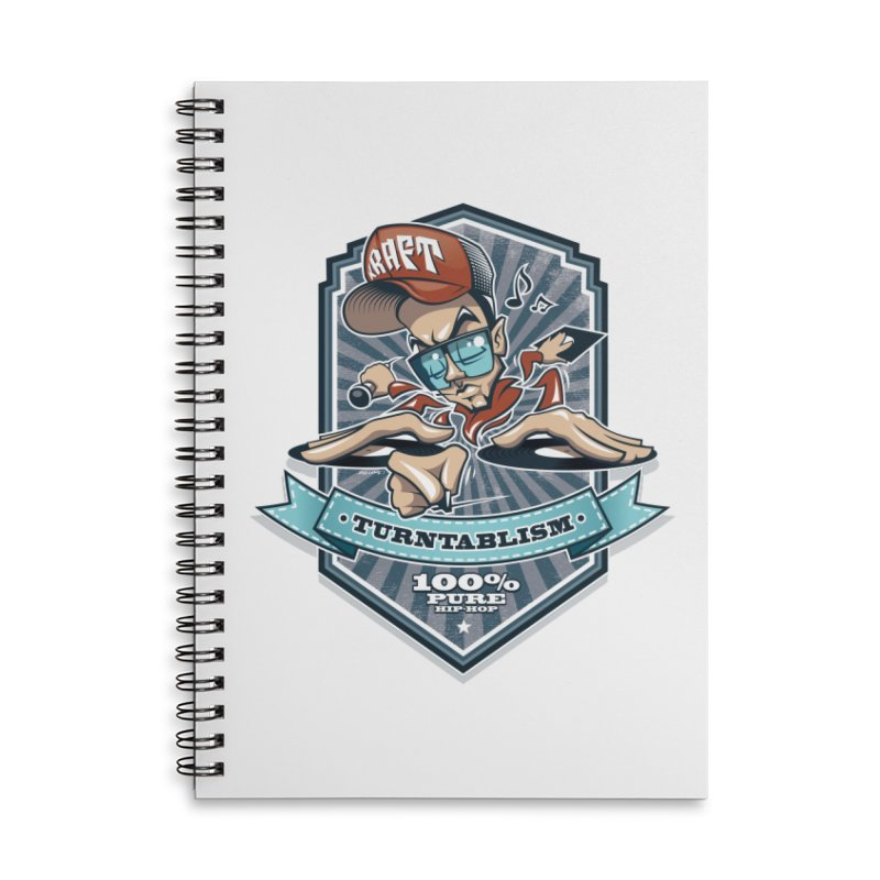 Turntablism Accessories Lined Spiral Notebook by zoelone's Artist Shop