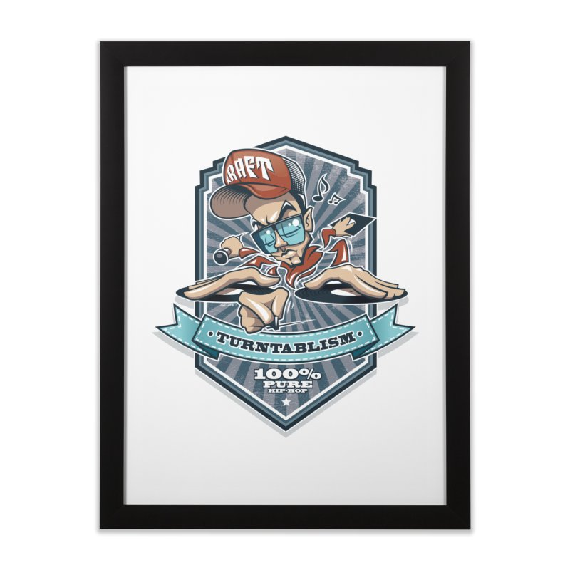 Turntablism Home Framed Fine Art Print by zoelone's Artist Shop