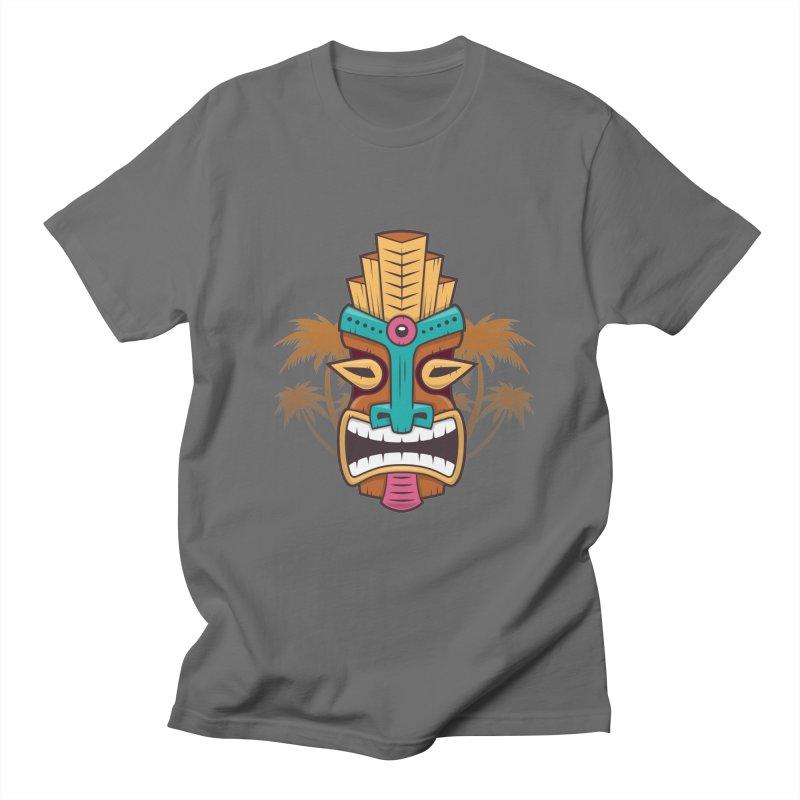 Tiki Mask Men's T-Shirt by zoljo's Artist Shop