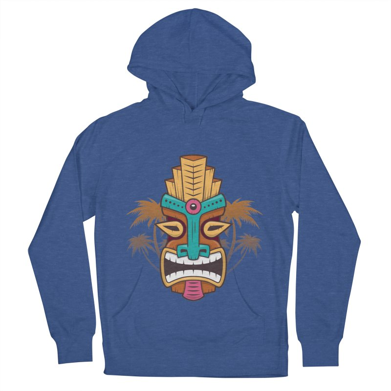 Tiki Mask Women's Pullover Hoody by zoljo's Artist Shop
