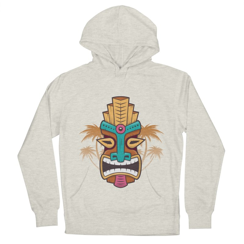 Tiki Mask Men's Pullover Hoody by zoljo's Artist Shop