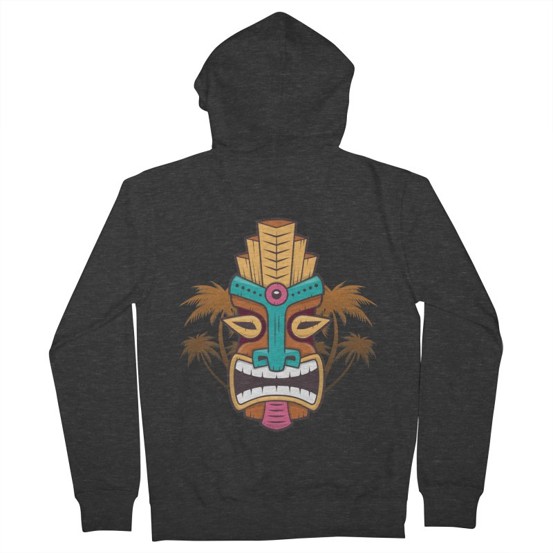 Tiki Mask Women's Zip-Up Hoody by zoljo's Artist Shop