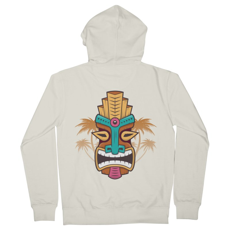 Tiki Mask Men's Zip-Up Hoody by zoljo's Artist Shop