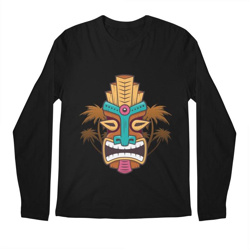 Tiki Mask Men's Longsleeve T-Shirt by zoljo's Artist Shop