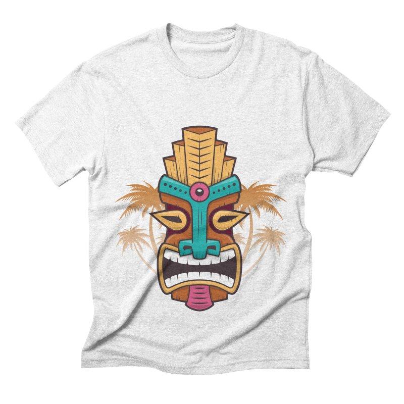 Tiki Mask Men's Triblend T-shirt by zoljo's Artist Shop